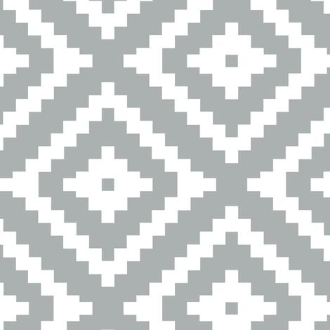 Aztec // grey fabric by littlearrowdesign on Spoonflower - custom fabric