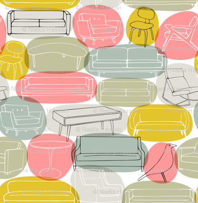 Sofa What, Who Chairs: pink bubbles