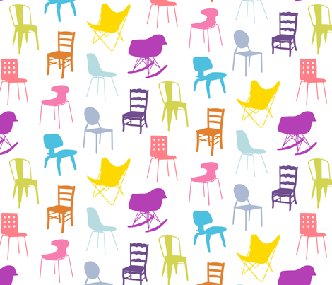 Take a Seat fabric by lellobird on Spoonflower - custom fabric