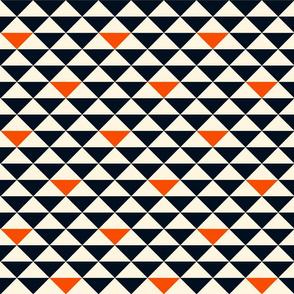 Triangles (dark blue and orange)