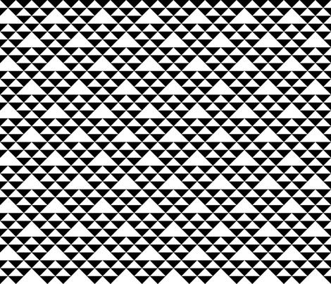 Triangles (b&w) fabric by les_motifs_de_sarah on Spoonflower - custom fabric