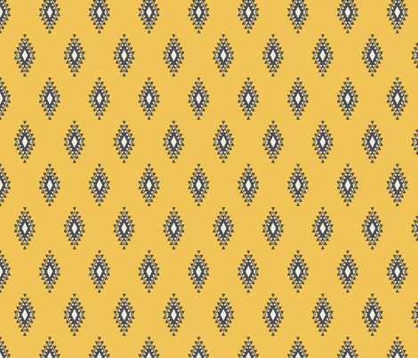 Yellow & Gray Aztec fabric by bohemiangypsyjane on Spoonflower - custom fabric