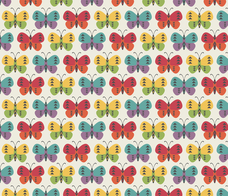 Little Indians-Tribal Butterflies fabric by bohemiangypsyjane on Spoonflower - custom fabric