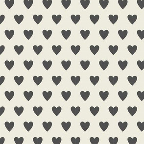 Hearts - Cream & Gray