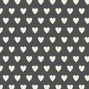 Hearts - Gray & Cream