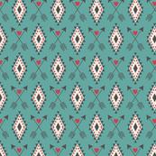 Turquoise Aztec Tribal