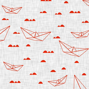 Paper boats (red)