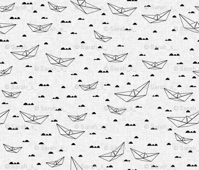 Paper boats (b&w)
