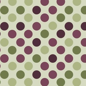 Polka Dots in Reds and Greens