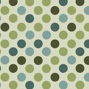 Polka Dots in Blues and Greens