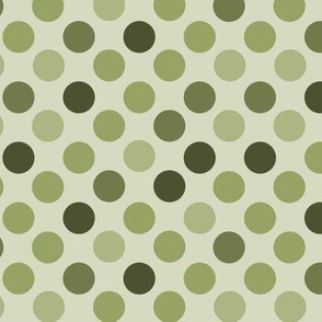 Polka Dots in Green