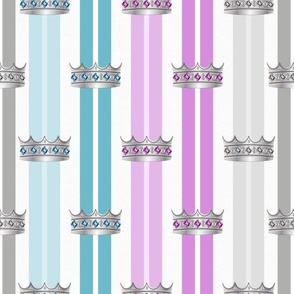 Cats On Thrones (Silver) -Crowns-