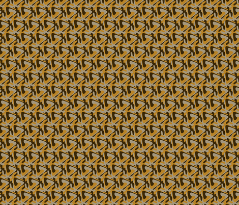 GoldBrownHex fabric by craige on Spoonflower - custom fabric