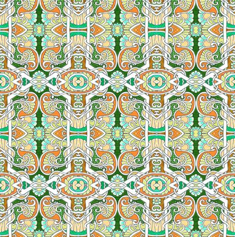 The Hexagon Garden Experience fabric by edsel2084 on Spoonflower - custom fabric