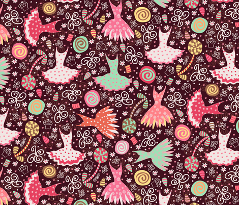 The Land of Sweets (Nutcracker) fabric by jill_o_connor on Spoonflower - custom fabric