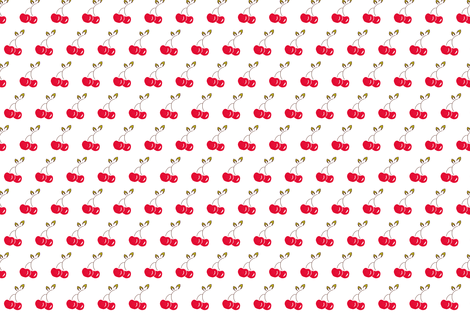 Pair of Cherries fabric by napolicreates on Spoonflower - custom fabric