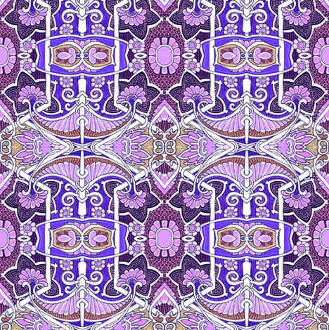 Purple Time Waltz fabric by edsel2084 on Spoonflower - custom fabric