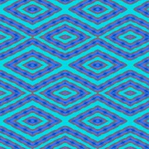 Chenille blue diamond