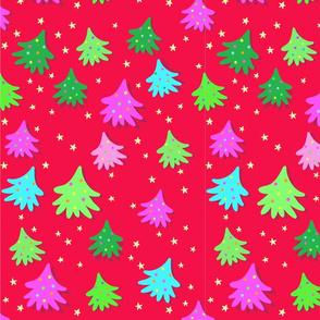 Bright Christmas Trees