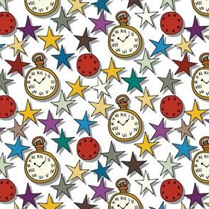 time stars white