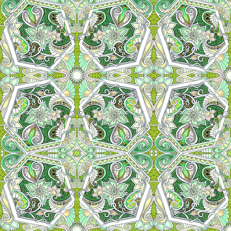 Twisted Hexagon Boogie fabric by edsel2084 on Spoonflower - custom fabric