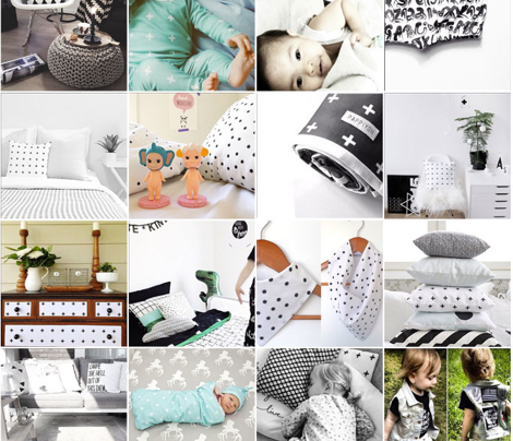 black and white grid large reverse