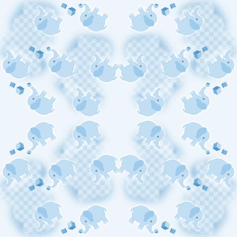 Elefan Blue fabric by gnarllymamadesigns on Spoonflower - custom fabric