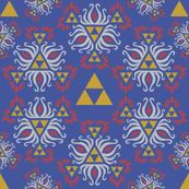 Ornate Triforce Blue