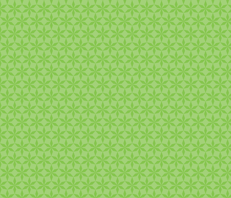 Spring Green Diamond Flowers fabric by anniecdesigns on Spoonflower - custom fabric
