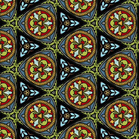 Stained Glass ~ Poppa  fabric by peacoquettedesigns on Spoonflower - custom fabric