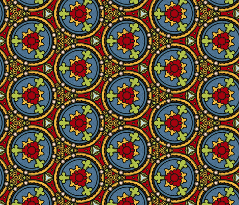 Stained Glass ~ Herleve  fabric by peacoquettedesigns on Spoonflower - custom fabric