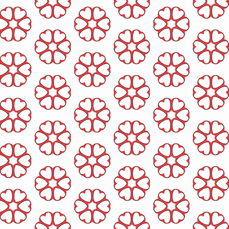 Kate Greenaway ~ Encircled Hearts fabric by peacoquettedesigns on Spoonflower - custom fabric