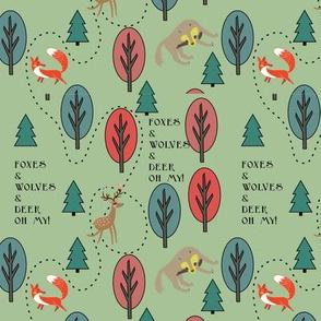 Foxes&Wolves&Deer