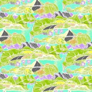 Hiking Through My Imagination - Tropical Colours - Medium Scale