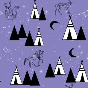 Origami Animals Camp - Custom Purple by Andrea Lauren
