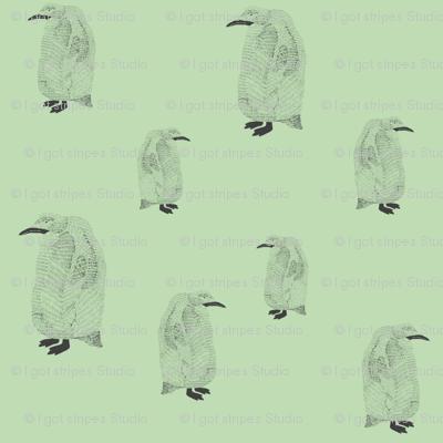 penguin pale green