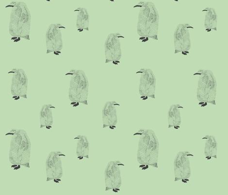 penguin pale green fabric by igotstripes_studio on Spoonflower - custom fabric