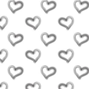 monochrome hearts