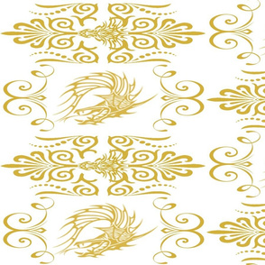 GOLDEN DRAGON DAMASK