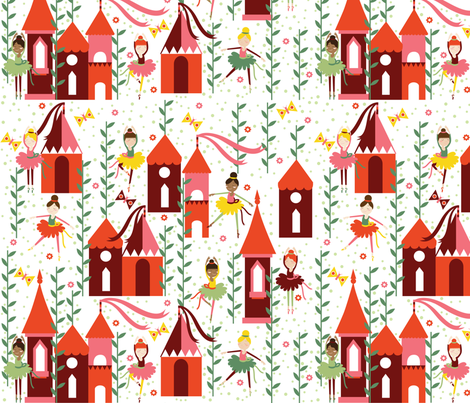 Dancing in the Summer fabric by oliveandruby on Spoonflower - custom fabric