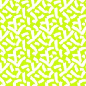 cheese doodles white on neon yellow