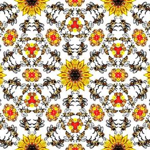 Darker bees on White