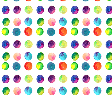 Ink-y Dots  fabric by laracornell on Spoonflower - custom fabric