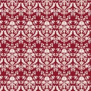 French damask - burgundy