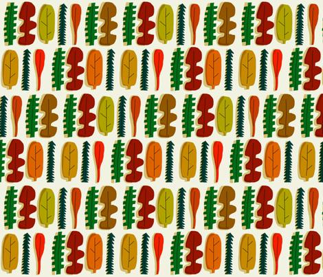 fall leaf fab fabric by kimmurton on Spoonflower - custom fabric
