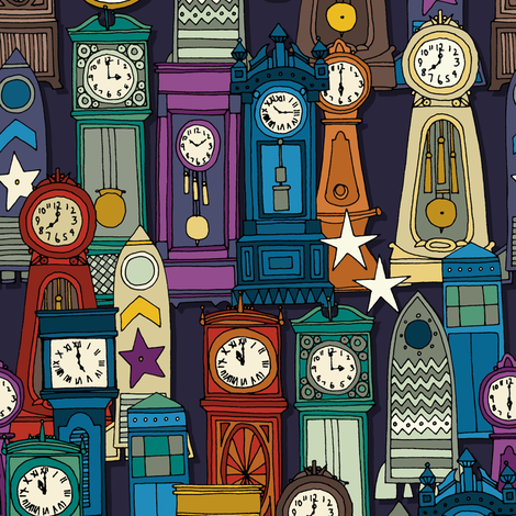space and time fabric by scrummy on Spoonflower - custom fabric