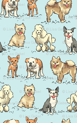 Dinky Dogs Fabric Lisagabel Spoonflower