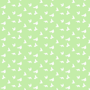 Doves in Flight, Spring Green