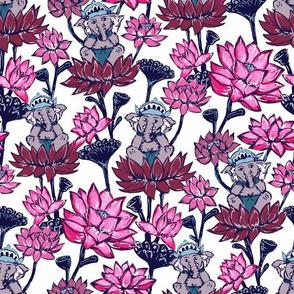 Baby Ganesh & Pink Lotus