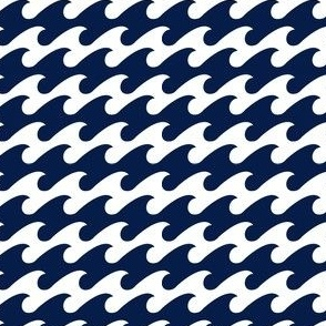 watery Navy houndstooth - Color Update